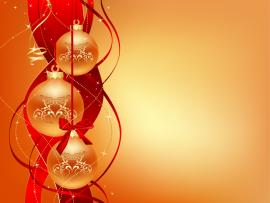 Yellow Christmas Ball Ornaments Clipart Backgrounds