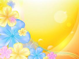 Yellow Floral Art Backgrounds