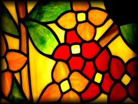 Yellow Red and Green Stained Glass Backgrounds