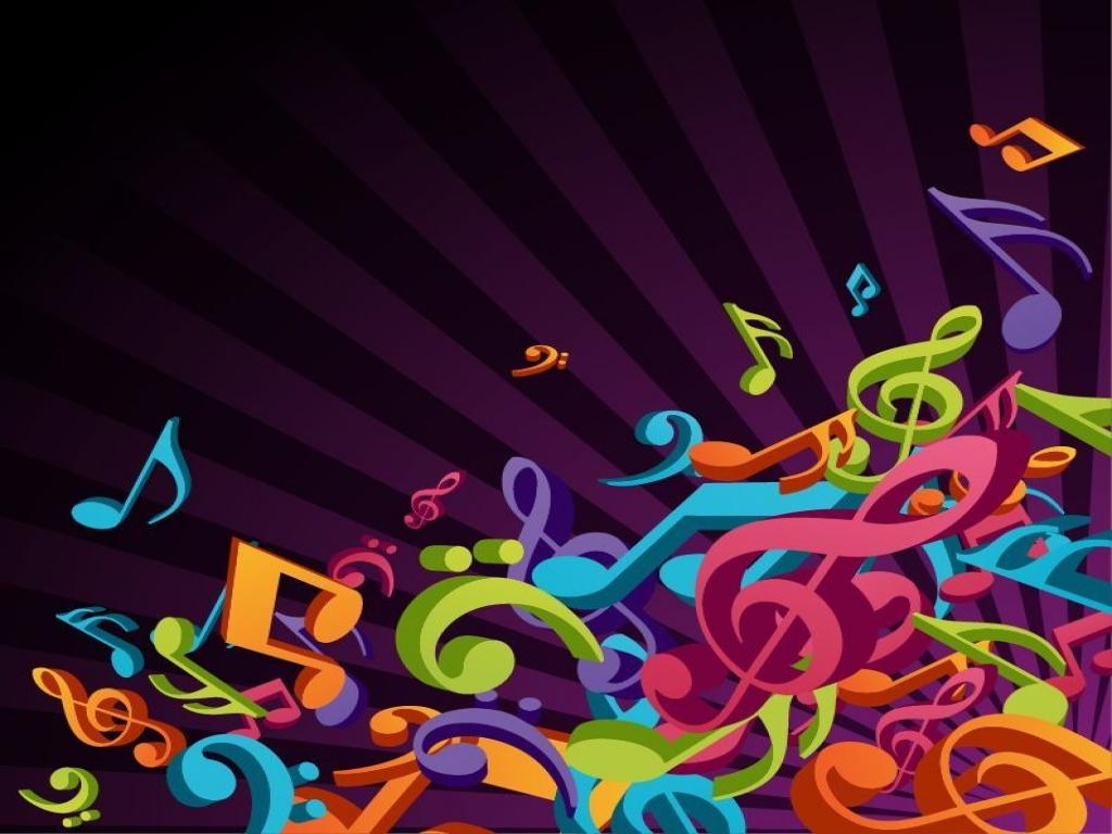 3d colorful music vector free vector graphics all free art 1024x768