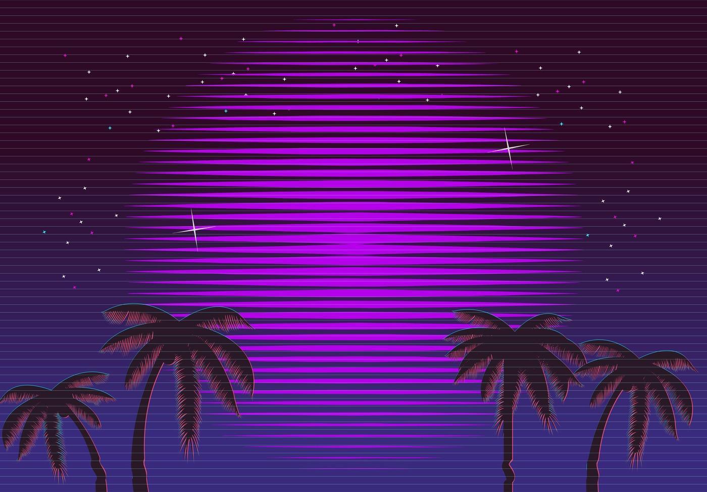 80s retro neon gradient 1024x768 resolution backgrounds - 1024x768