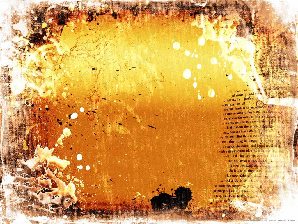 Abstract Orange Grunge Texture Template PPT Backgrounds