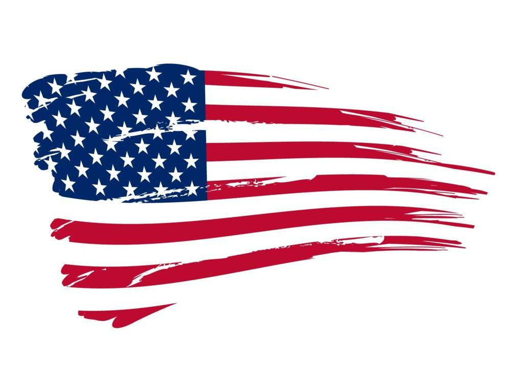 American Flag Template PPT Backgrounds