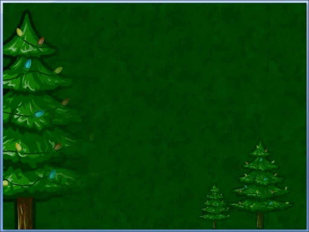Animatedxmastree Simple Dark Green With Christmas Tree Slides PPT Backgrounds