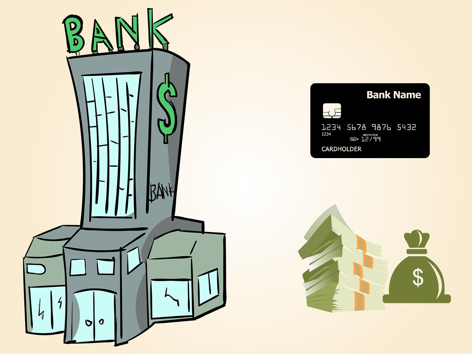 Bank Money Credit Card PPT Backgrounds