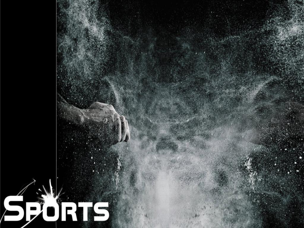 Black and Sports Frame PPT Backgrounds