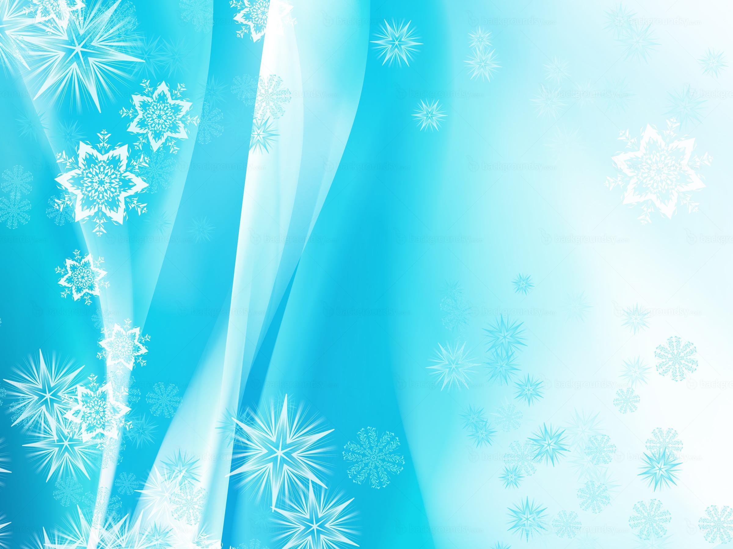 Blue Christmas Art PPT Backgrounds