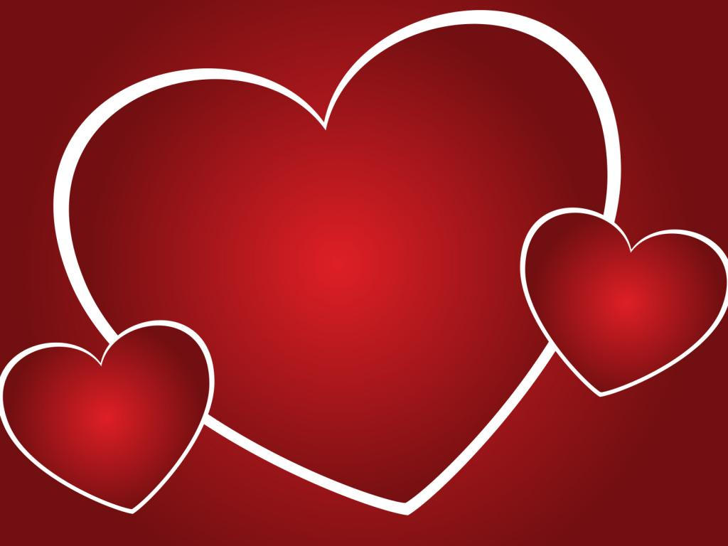 Bright Heart PPT Backgrounds
