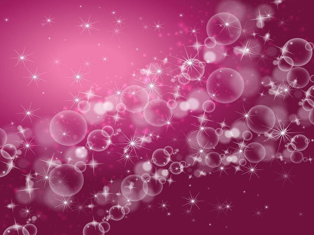 Bubbles Pink Abstract Photo PPT Backgrounds