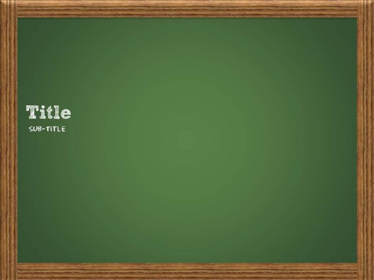Chalkboard Template Slides PPT Backgrounds