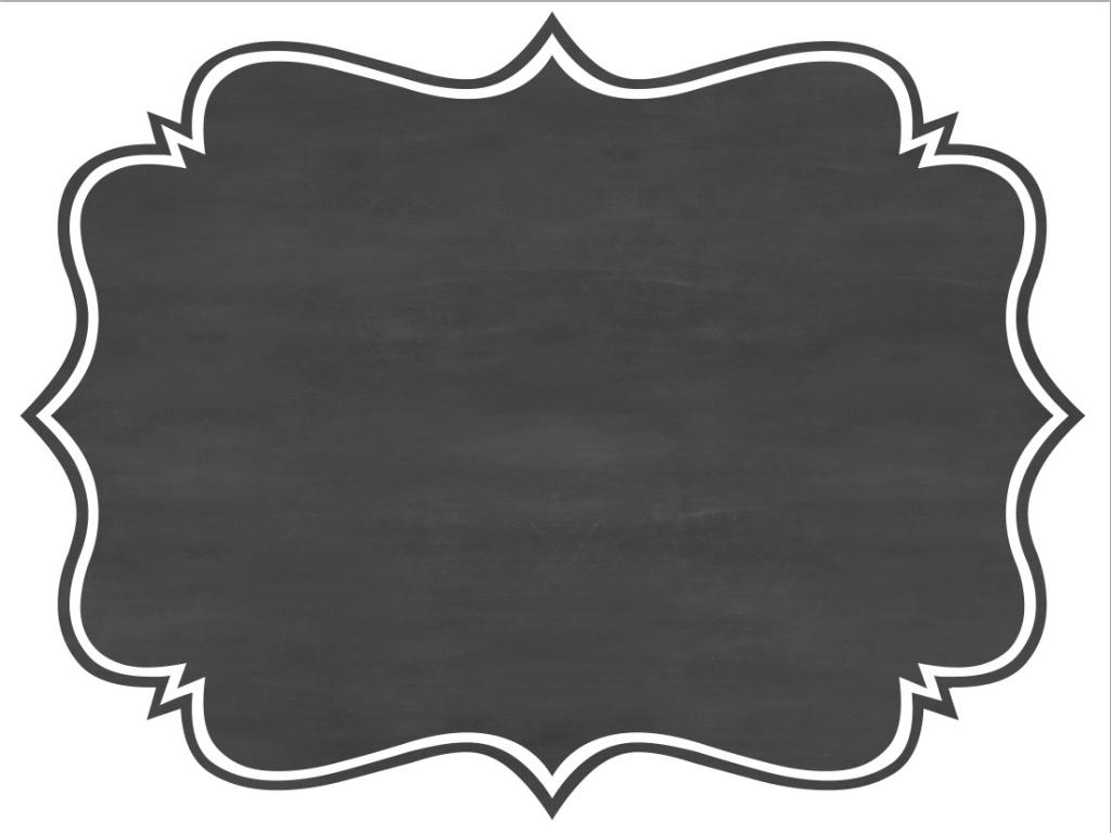 Chalkboard With Border Photo Frame PPT Backgrounds