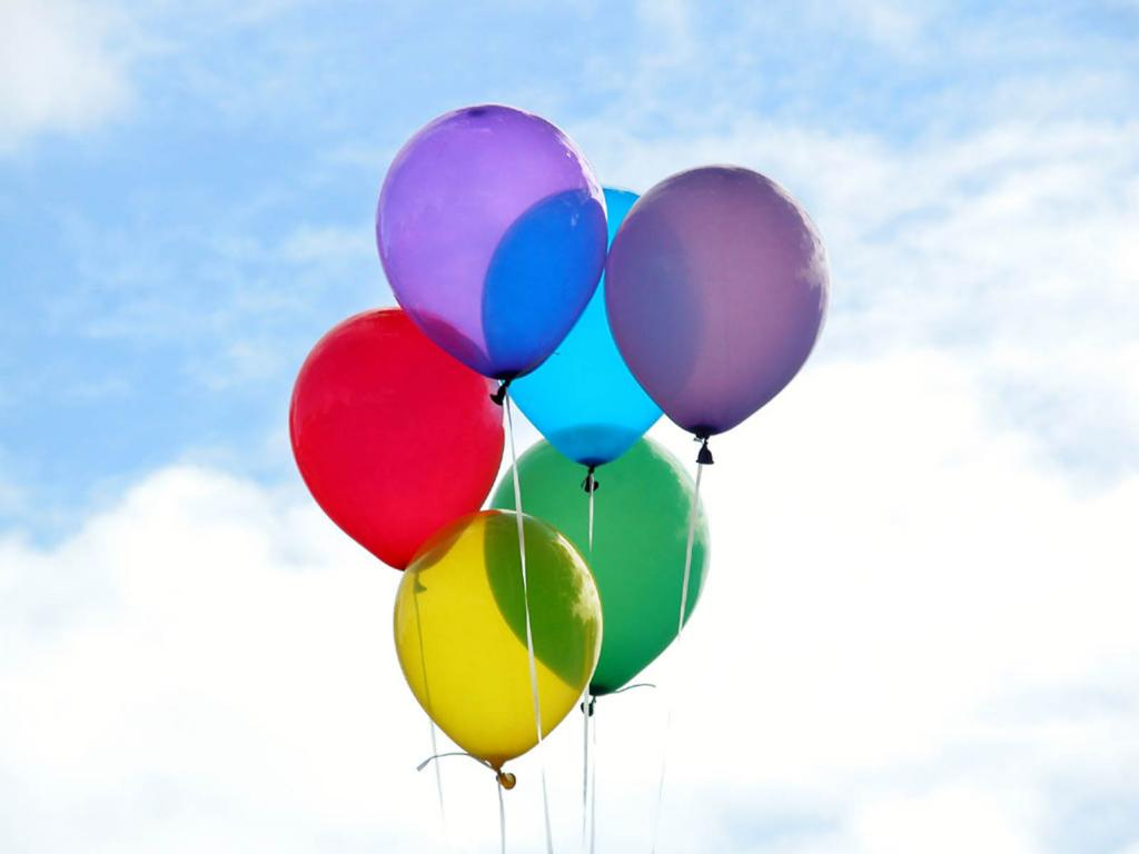 Clipart Balloons Frame PPT Backgrounds