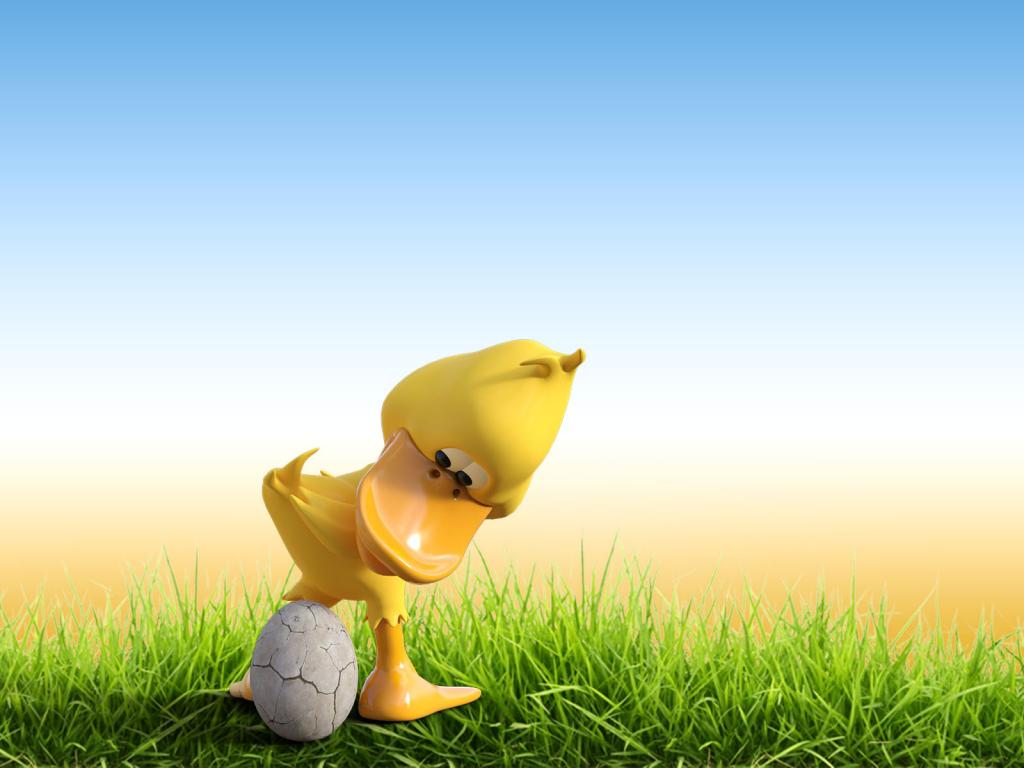 Cute Duck Egg PPT Backgrounds