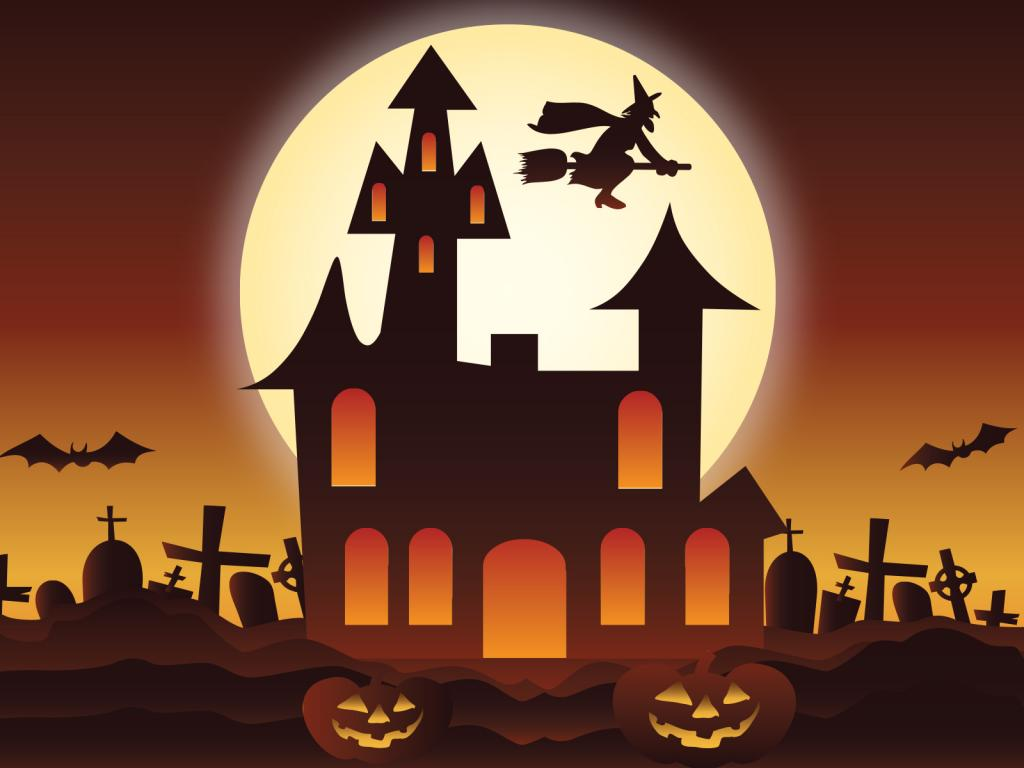 Cute Halloween PPT Backgrounds