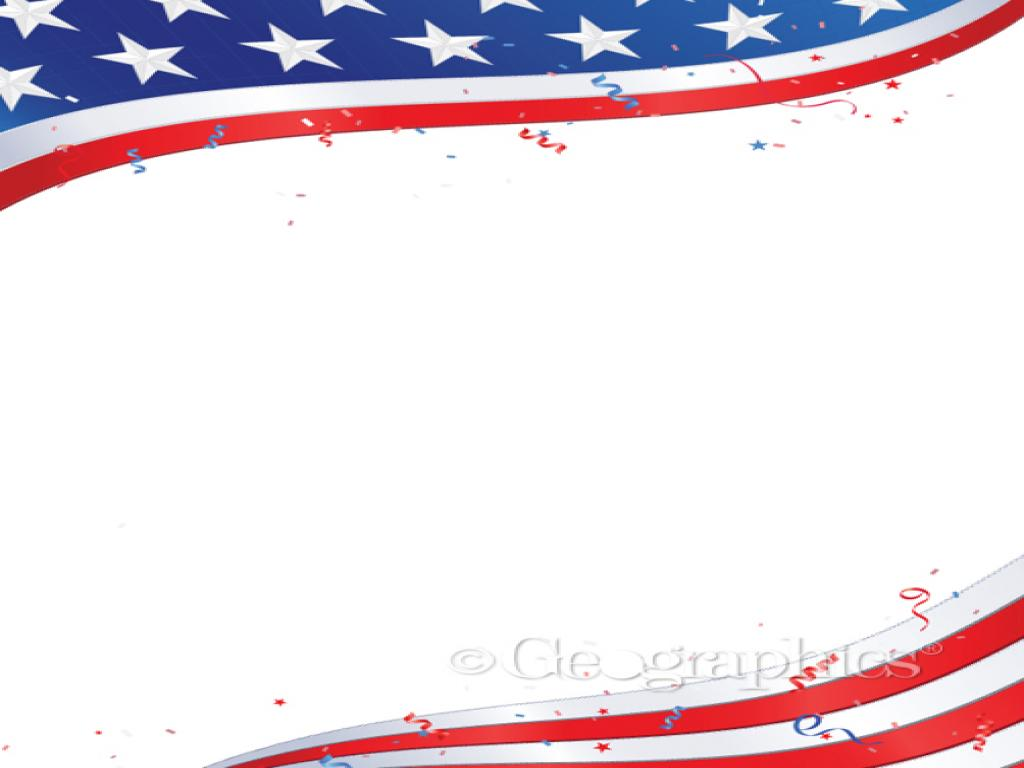 Flag PowerPoint Template Free Printable Patriotic Stationery Template   Frame PPT Backgrounds