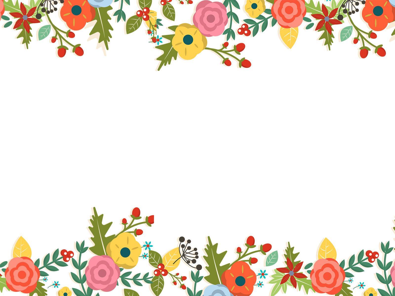 Floral Border Art PPT Backgrounds
