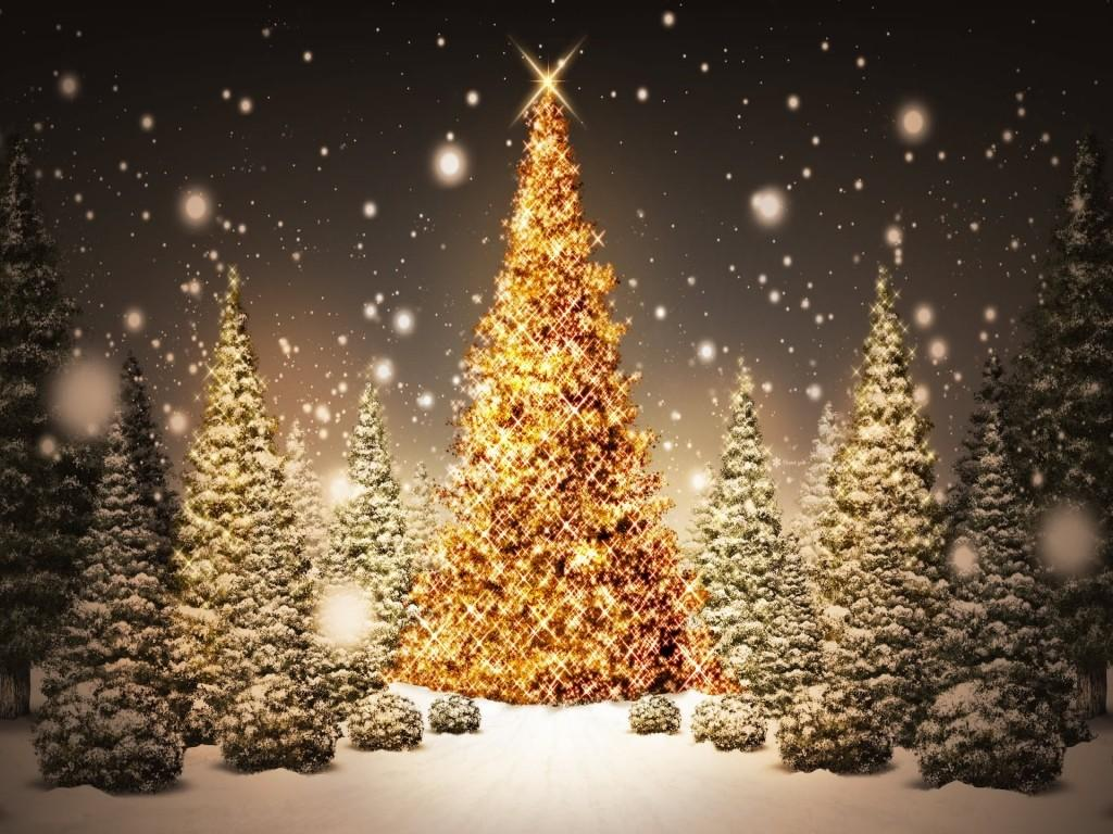 Free For Christmas Art PPT Backgrounds