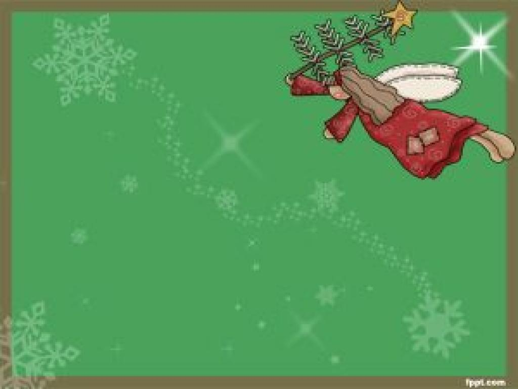 Free PowerPoint Templates Christmas Angels Slides PPT Backgrounds