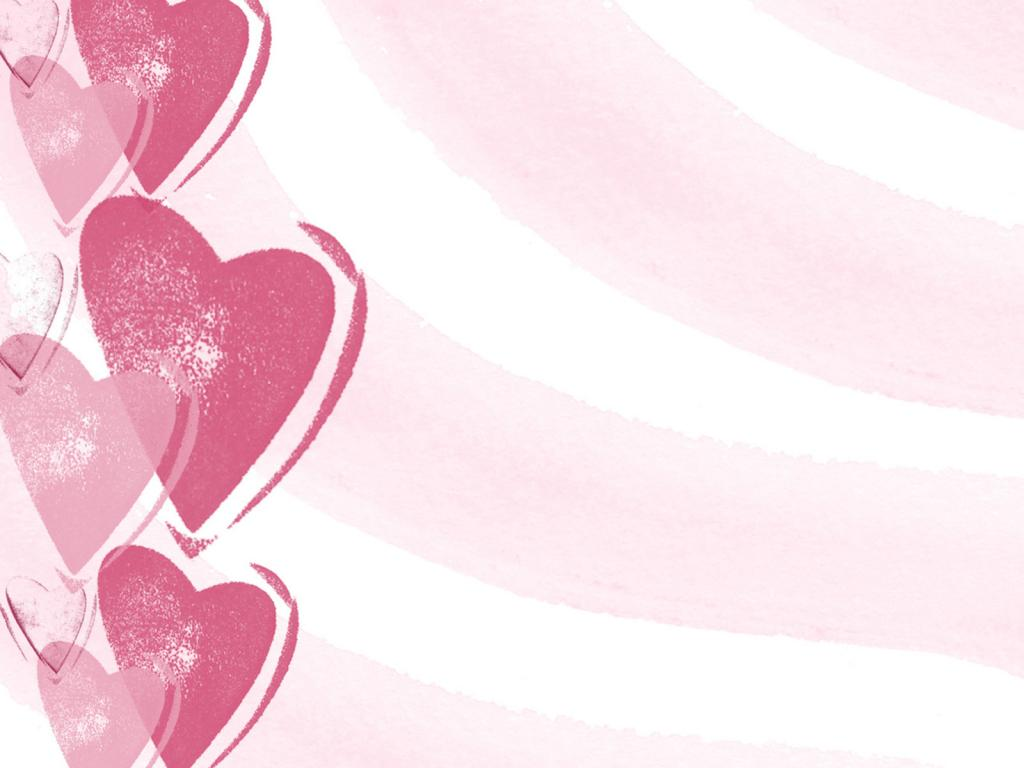 Girly Love PPT Backgrounds
