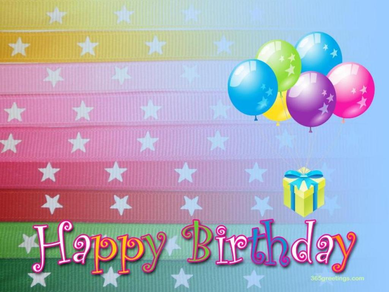 Happy Birthday Photo PPT Backgrounds