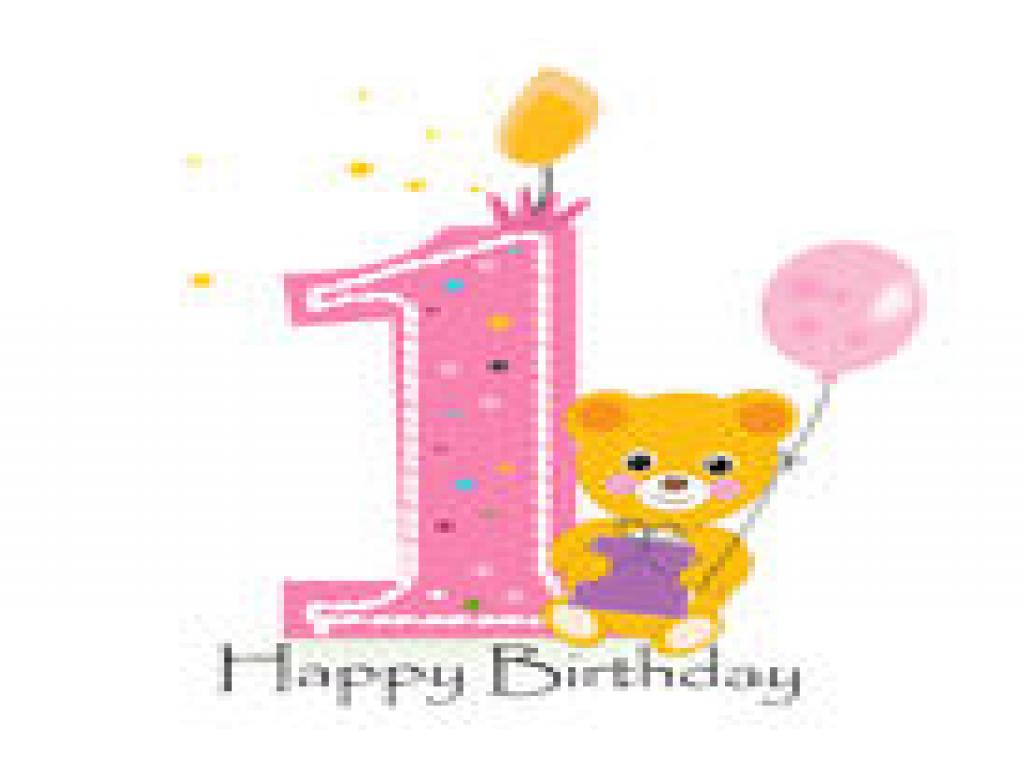 Happy First Birthday Baby PPT Backgrounds