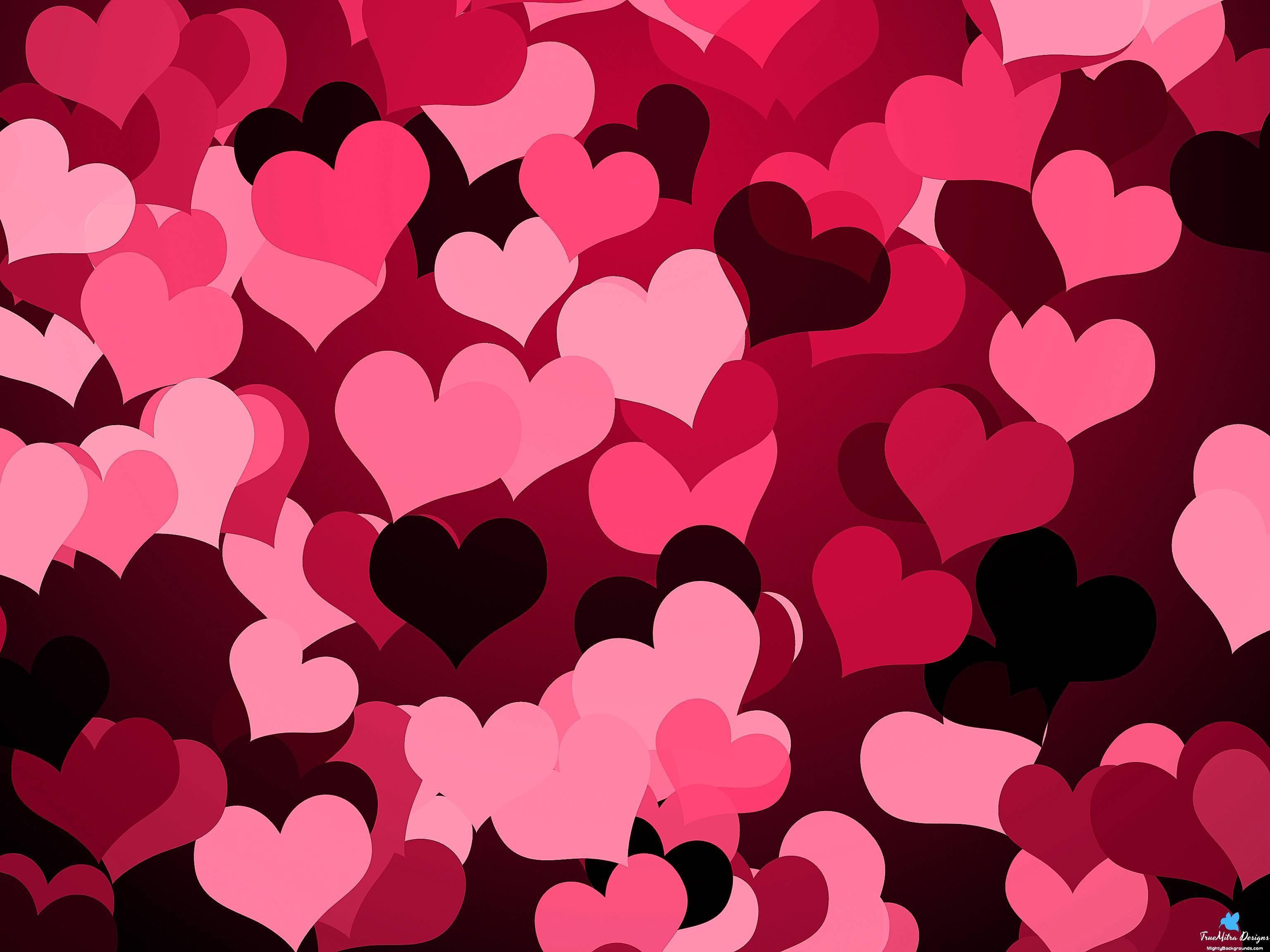 Hearts Jpg Wallpaper PPT Backgrounds