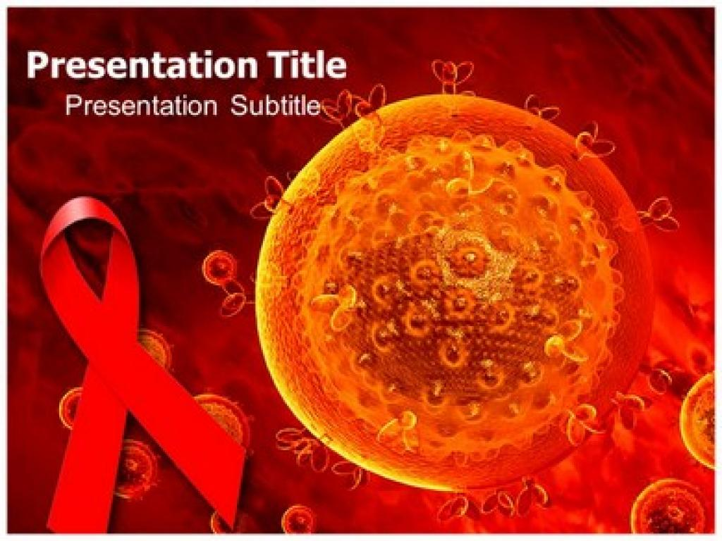 Hiv Aids Virus Powerpoint Templates And Design 1024x768 Resolution