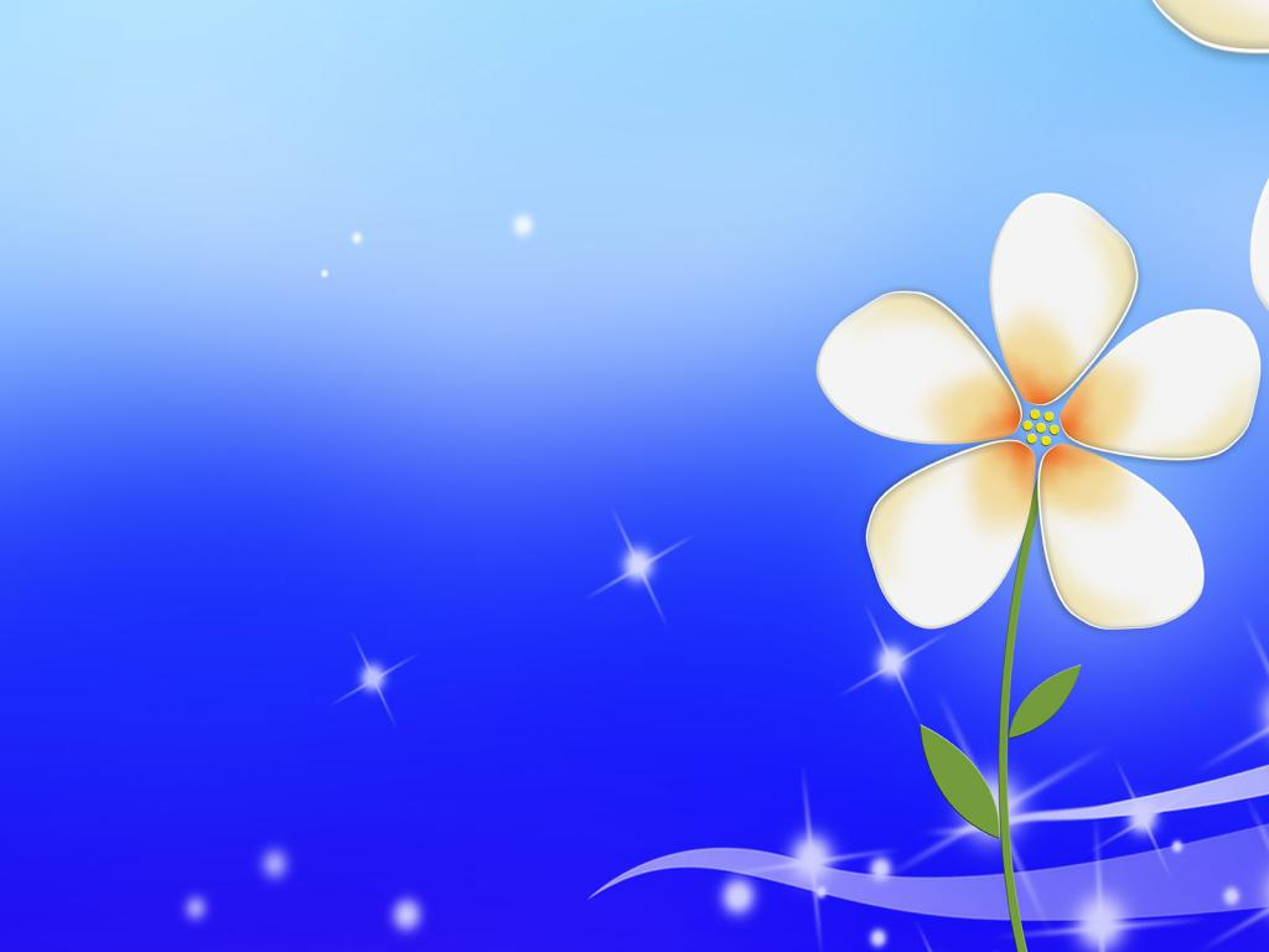 Little Flower PPT Backgrounds