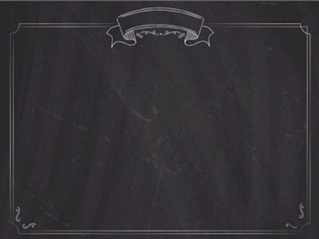 Menu List Chalkboard With Border Wallpaper PPT Backgrounds
