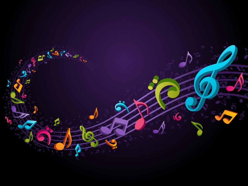 Music Notes Graphic PPT Backgrounds