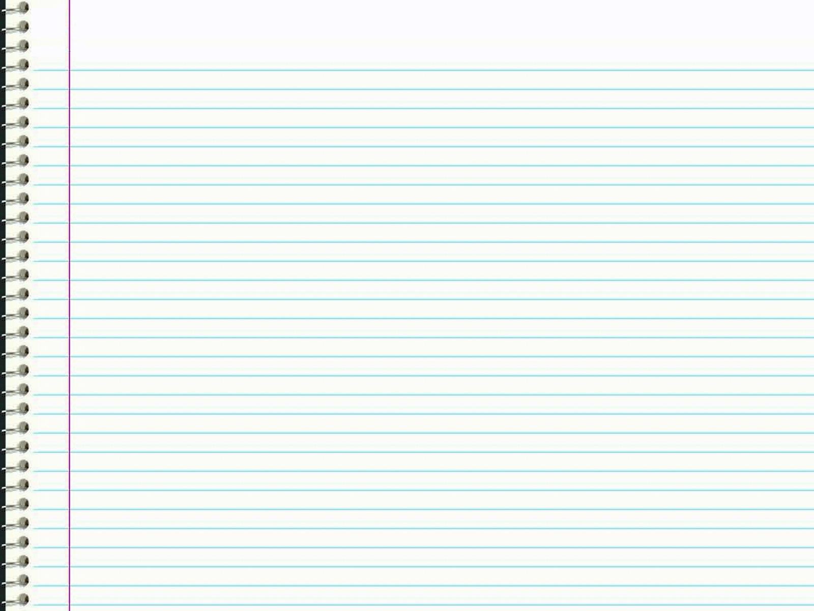 Notebook Paper Design PPT Backgrounds