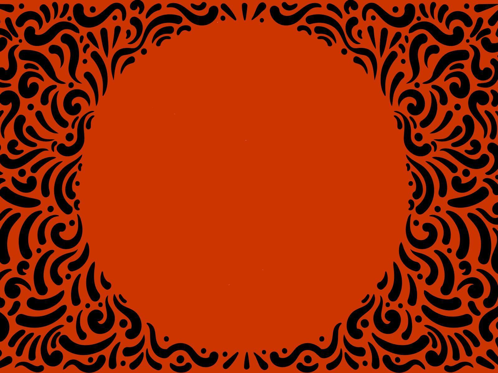Orange Spiral Frame PPT Backgrounds