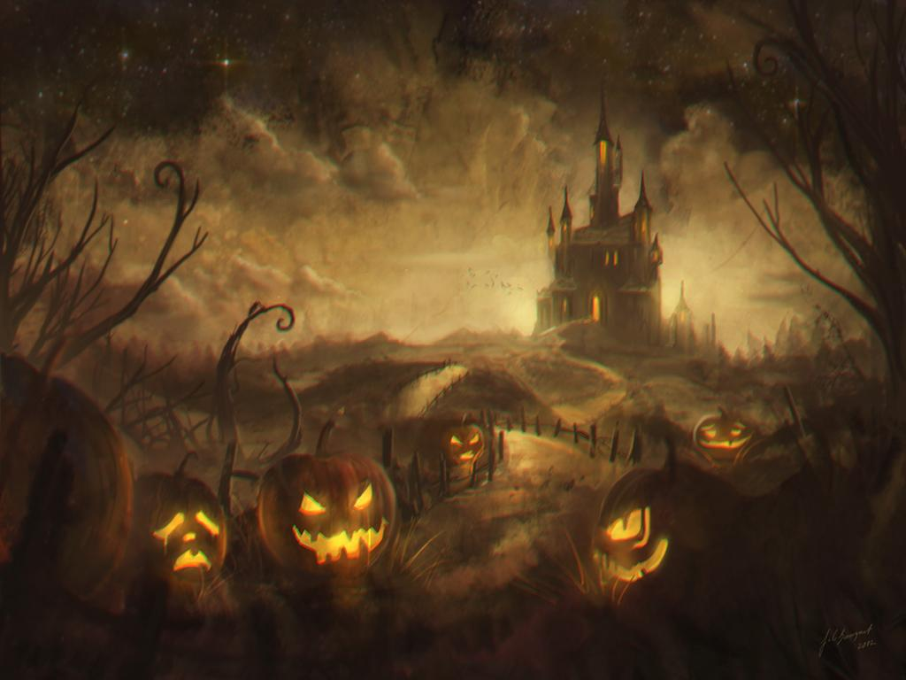 Scary Halloween Slides PPT Backgrounds