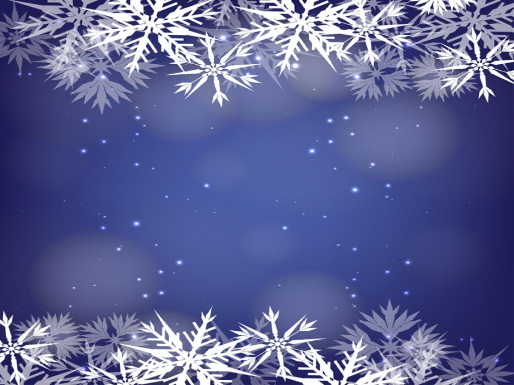 Snowflake Design PPT Backgrounds