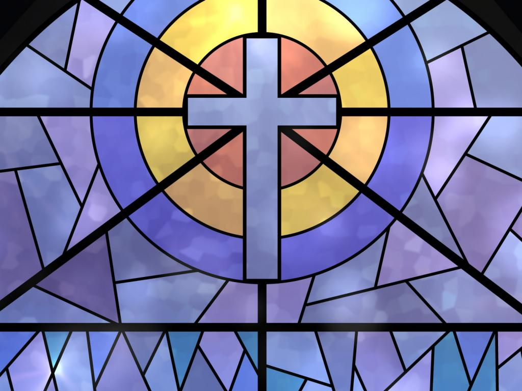 Stained Glass Window Quality PPT Backgrounds