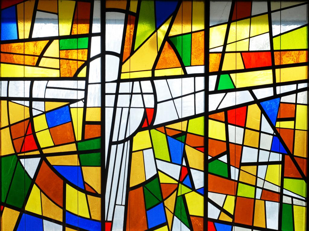 Stained Glass Worship Wallpaper PPT Backgrounds