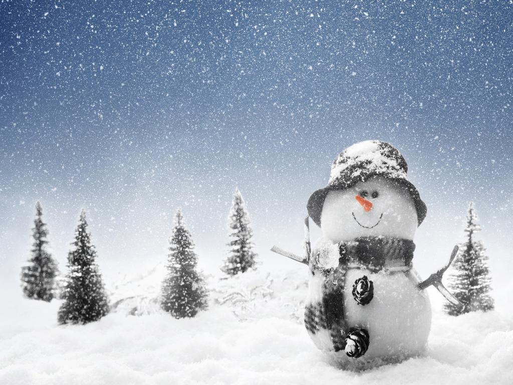 Winter Snowmans Pictures Photos Images Picture PPT Backgrounds