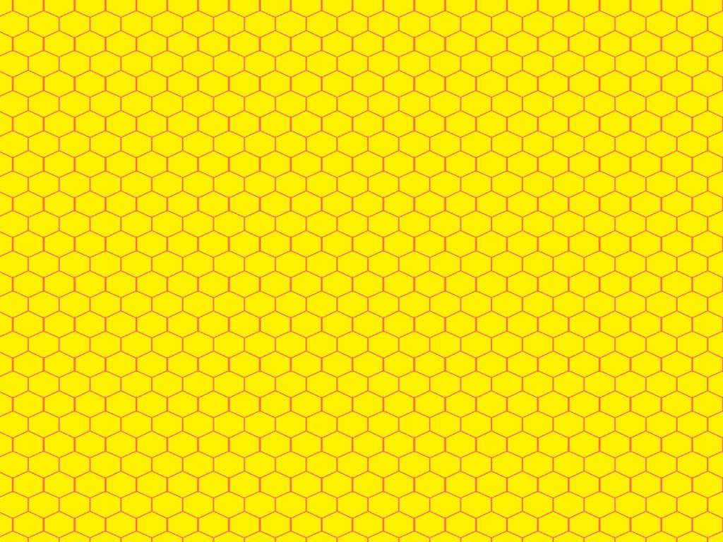 Yellow Honeycomb Pattern image PPT Backgrounds