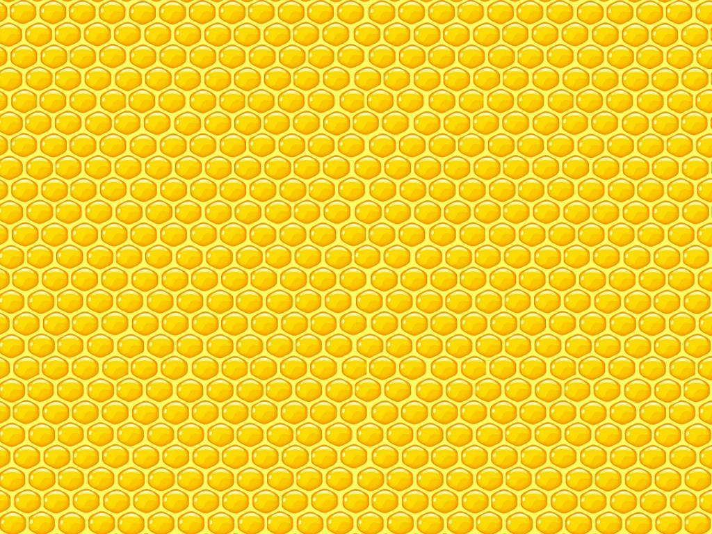 Yellow Honeycomb Quality PPT Backgrounds