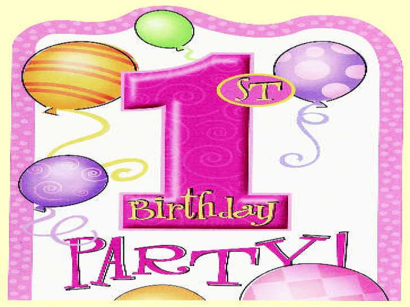 1st Birthday Pink Invitations Graphic Backgrounds