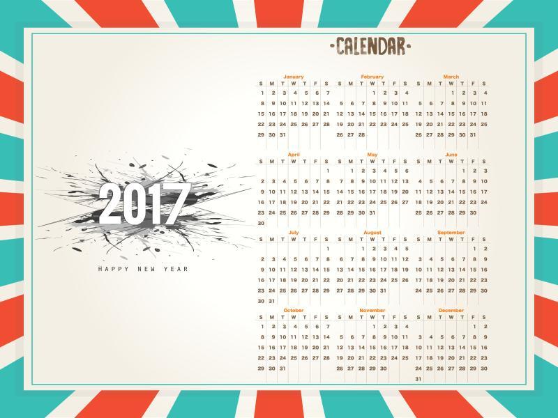 2017 Calendar Backgrounds