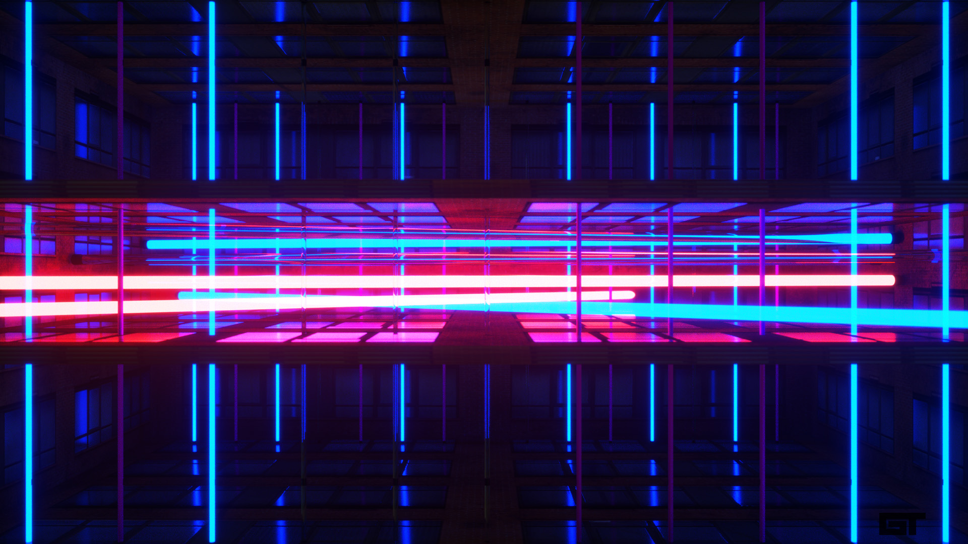 80s Grid Electro Backgrounds