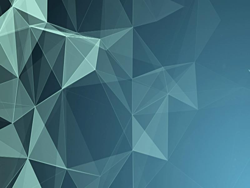 Abstract Geometric Triangles Blue Art Backgrounds