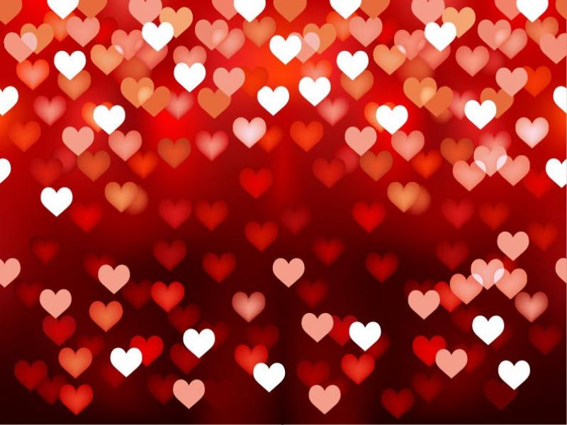 Abstract Hearts Template PPT Backgrounds