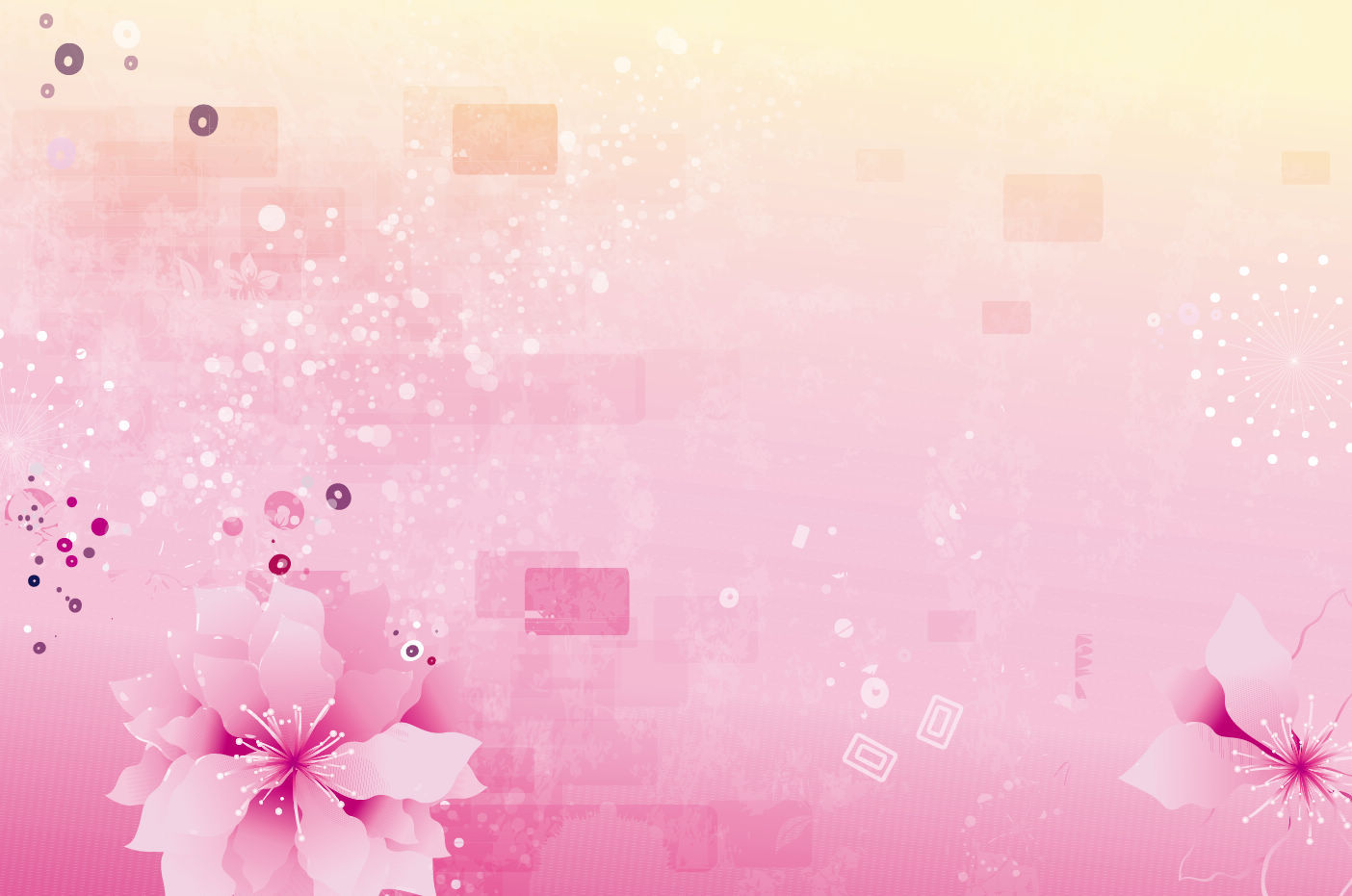 Abstract Pink Flowers Template Backgrounds For Powerpoint Templates Ppt Backgrounds