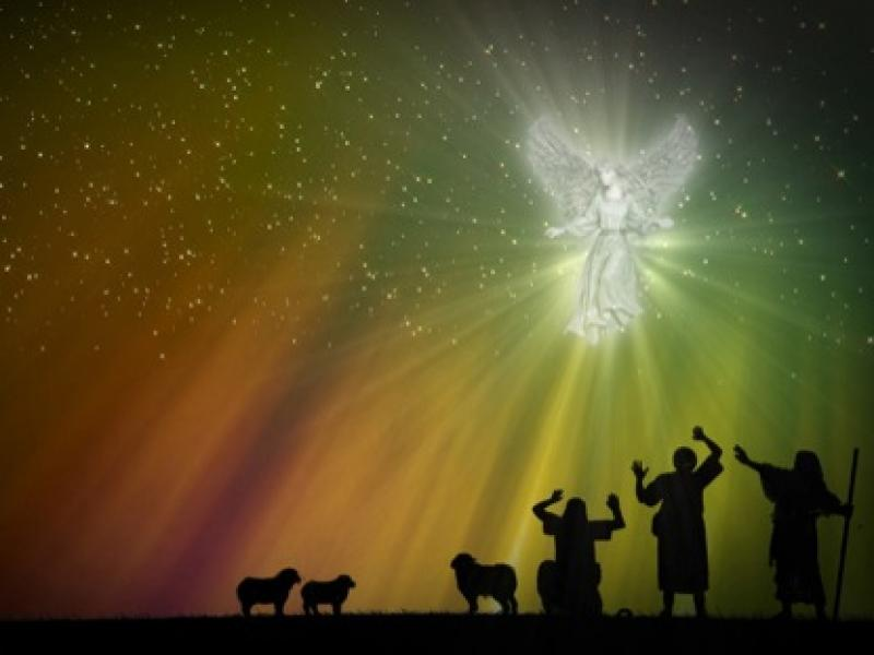 Angel Appears To Shepherds  ImageVine  WorshipHouse Media Graphic PPT Backgrounds