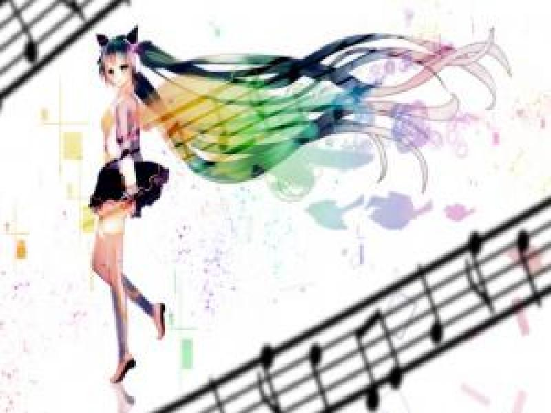 anime girl ppt template for presentation clipart backgrounds for