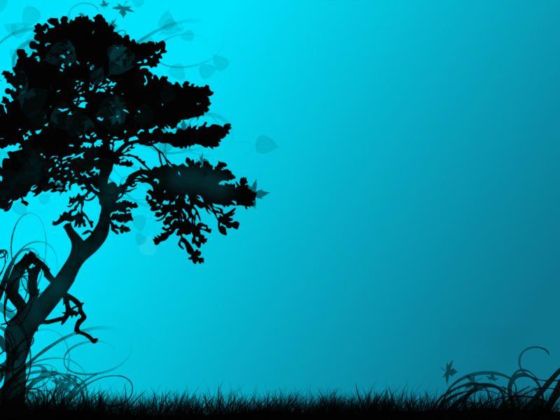 Art Tree Blue Backgrounds