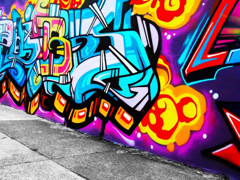 awesome graffiti backgrounds for powerpoint templates