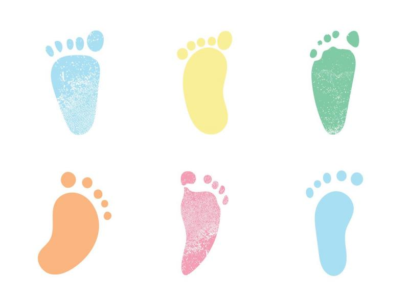Baby Footprints Template Backgrounds For Powerpoint